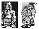 Titanfall 1 and 2 Pilots by Michiragi