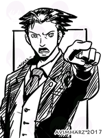 Quick Sketch: Phoenix Wright Ace Attorney by avimHarZ