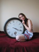 GirlWithClock.Stock01 by Reilune