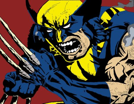 wolverine first attempt. by Darthchad
