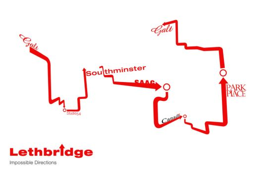 Impossible map of Lethbridge by Firmato