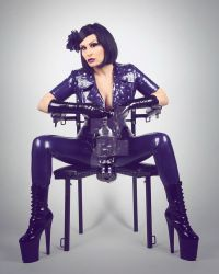 Miss Velour in purple latex by Ange1ica