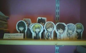 Death Note Cut-Outs by tokyopink15