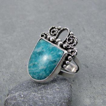 Amade Oriental Amazonite Ring by ggagatka