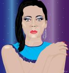 ILLUSTRATION OF MODEL WITH STARS by mambographic