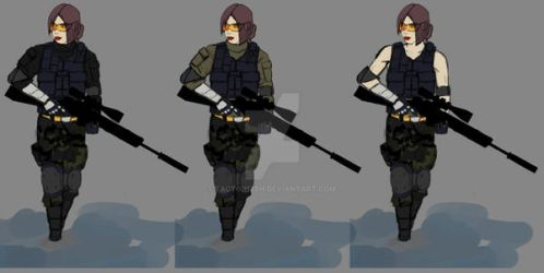 rb6 female defender oc concept #1 by Factor13th