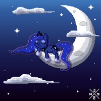 Sleeping Pixel Luna by auro-ria