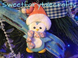A cute penguin ornament :) by Sweetfairytalecrafts