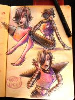 Sketchbook 01 - MettatonEx [Undertale] by Cotton-Monster