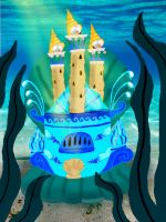 Castle undr water by Melevy