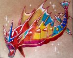 Rainbow Mega-Gyarados in kratf by ChicoKawaii94