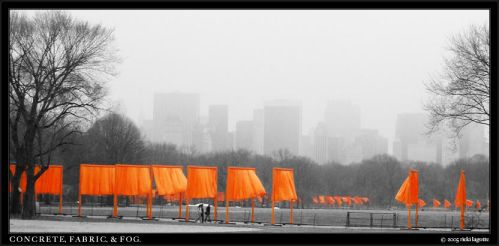concrete, fabric, and fog. by gizmocrat
