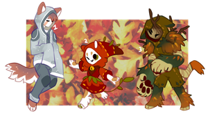 AutumnMaskcatz batch2 (close) by onigiryStuff