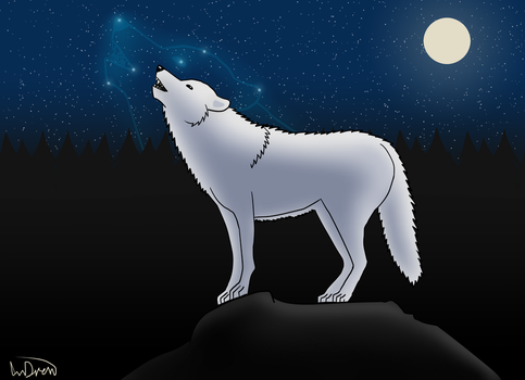 Wolfmoon by AnDrewDrawsArt