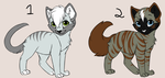 3 point adoptables by Its-Mousepelt