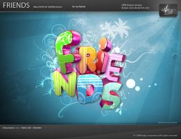 Friends wallpaper by darpan-aero