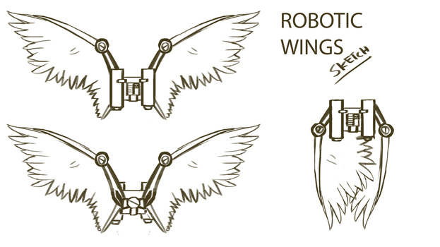 Untitled Project - Robotic wings sketch by TsuRIL