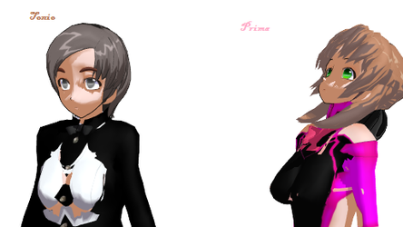 MMD Prima and Tonio(Own Designs)! by Ryad2006