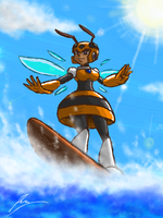 Honey woman surfer girl by borockman