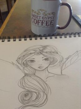 Fairy Sketch @ Work by MightyNugget