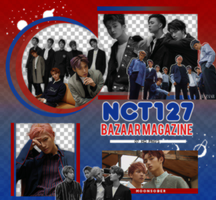 NCT127//BAZAAR MAG.-PNGPACK#1 by MoonSober