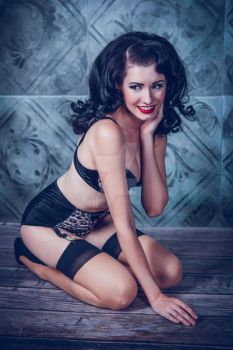 Brittany Jean Pinup by stockphotosource