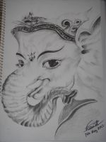 Ganesha Sketch (Final) by saintvinod
