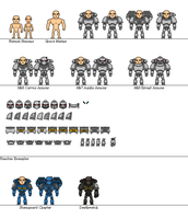Space Marine Miniheroes by Sleeping-Demons