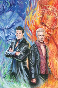 Angel and Spike from Buffy by WestStudio3