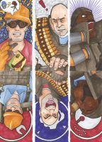TF2 Defense Bookmarks by Keebler-Elfy