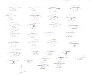 Eyes practice by Jezuyz