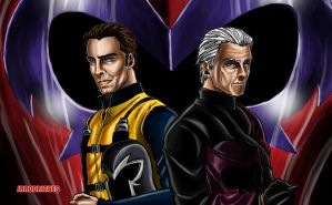 Magneto Older and Younger by Junior-Rodrigues