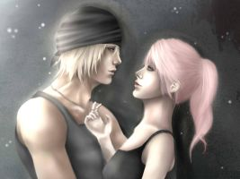 FFXIII ~ Snow and Lightning by Orchid-of-Hope
