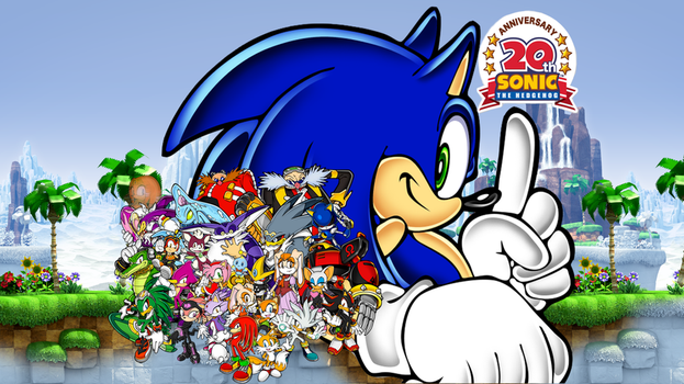 Sonic the Hedgehog: 20th Anniversary Wallpaper 2 by UltimateGameMaster