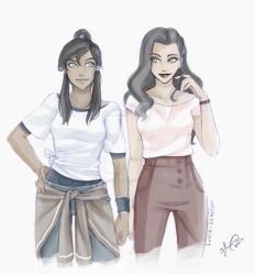 Korra and Asami by Lukia-Lokelani