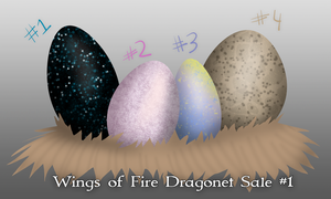 Wings of Fire Egg Hatching Stream #1 [ALL SOLD] by xTheDragonRebornx