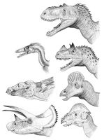 North American Dinosaurs by PaleoAeolos