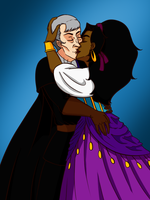 Frollo and Esmeralda by jeanmarie95