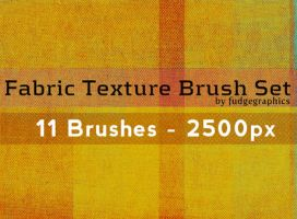 Fabric Texture Brush Set by fudgegraphics