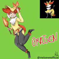 Braixen (Gijinka) by Meloewe