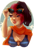 Poolparty Fiora by ozzuubear