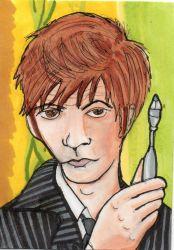 10th Doctor ACEO by Phoentrix