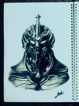Guyver Charcoal Sketch by pakwan008