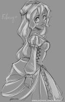 Eilonwy Sketch by NoFlutter