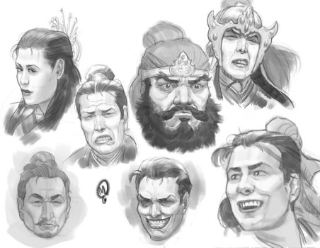 Sketchbook - Expressions and Heads by Changinghand