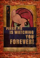 Pinkie Pie Is Watching You Forever by dan232323