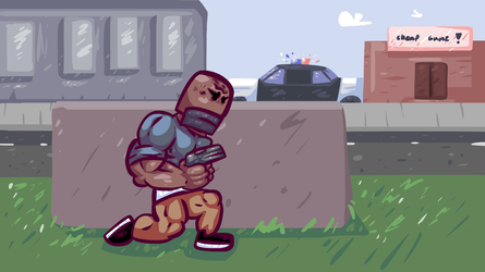 Gangster vs. Popo (Click to see GIF) by therossen