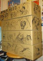 GDW cardboard boxes illustrated by Takahashi by methpring