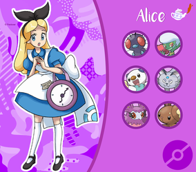 Disney Pokemon trainer : Alice by Pavlover