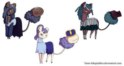 Cotton mouth adopts by Yami-Adoptables